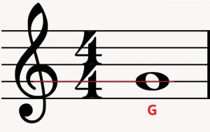 G Clef With G Note Colored