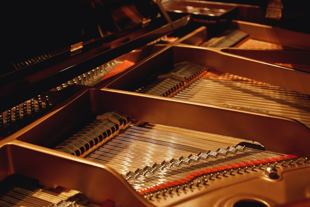 Inside Of Piano, Showing Multiple Strings Per Note